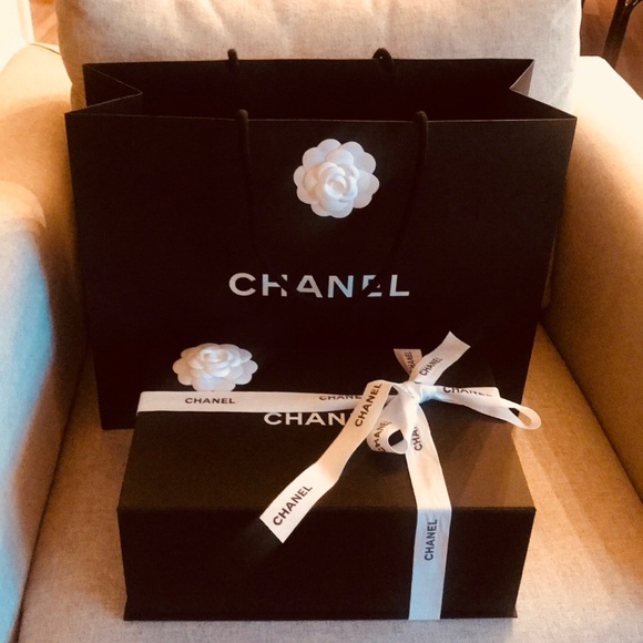 9cc9b4375f1cff CHANEL Handbags - Chanel gift box with shopping, ribbon and tissue